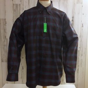 NWT Forsyth of Canada Plaid Non-Iron Shirt XL